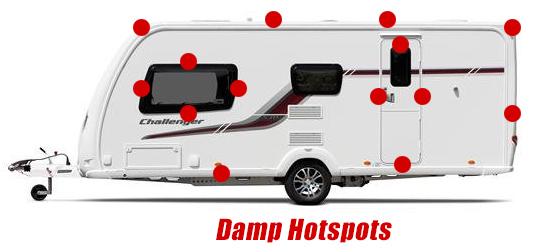 dampspots