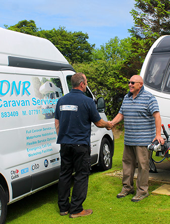 Mobile caravan servicing Devon