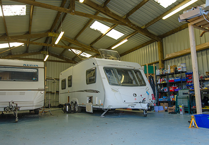 Devon caravan servicing workshop
